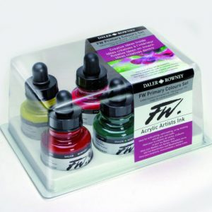Daler Rowney FW Ink Primary Colours Set 6 x 29.5ml