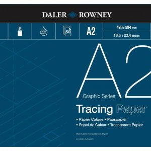 Daler Rowney Tracing Paper Pad 90gsm A2