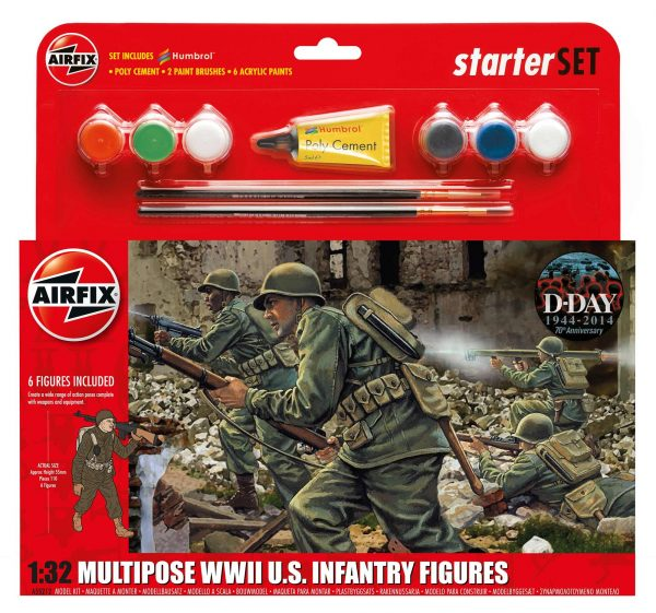 Airfix Multipose WWII U.S. Infantry Figures A55212