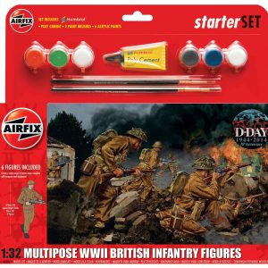 Airfix Multipose WWII British Infantry Figures A55211