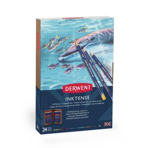 Derwent Inktense Pencils 24 Wooden Box