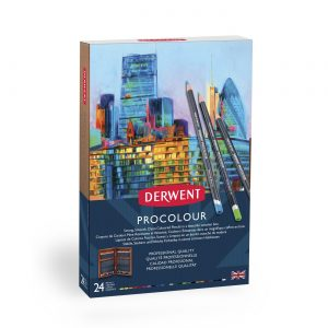 Derwent Procolour 24 Wooden Box