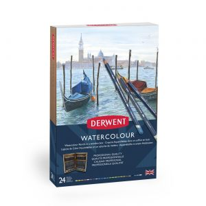 Derwent Watercolour Pencils 24 Wooden Box